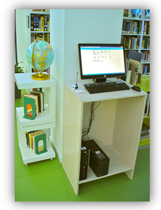A picture of the Library Public Access Computer to access OPAC